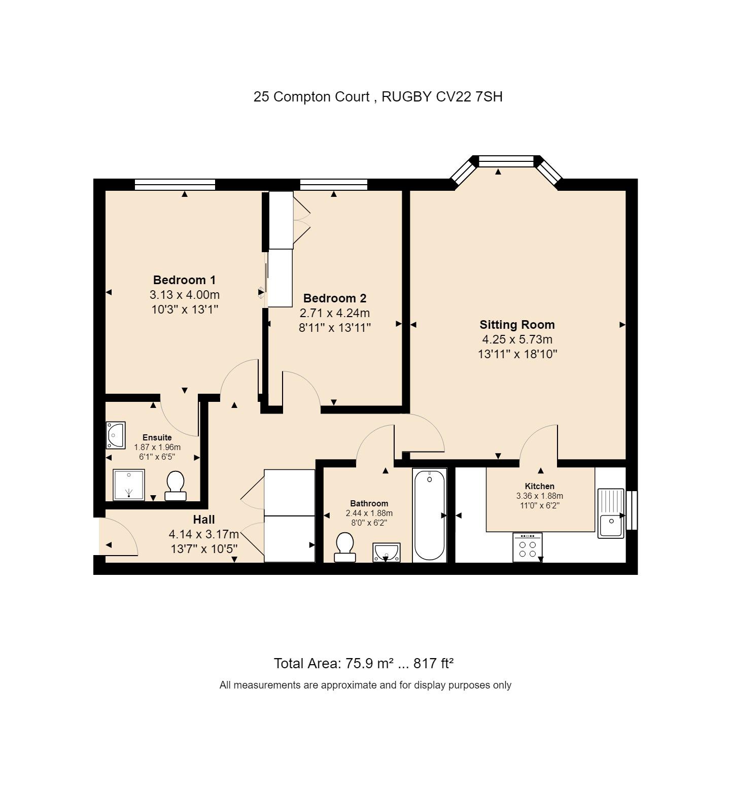 25 Compton Court Floorplan