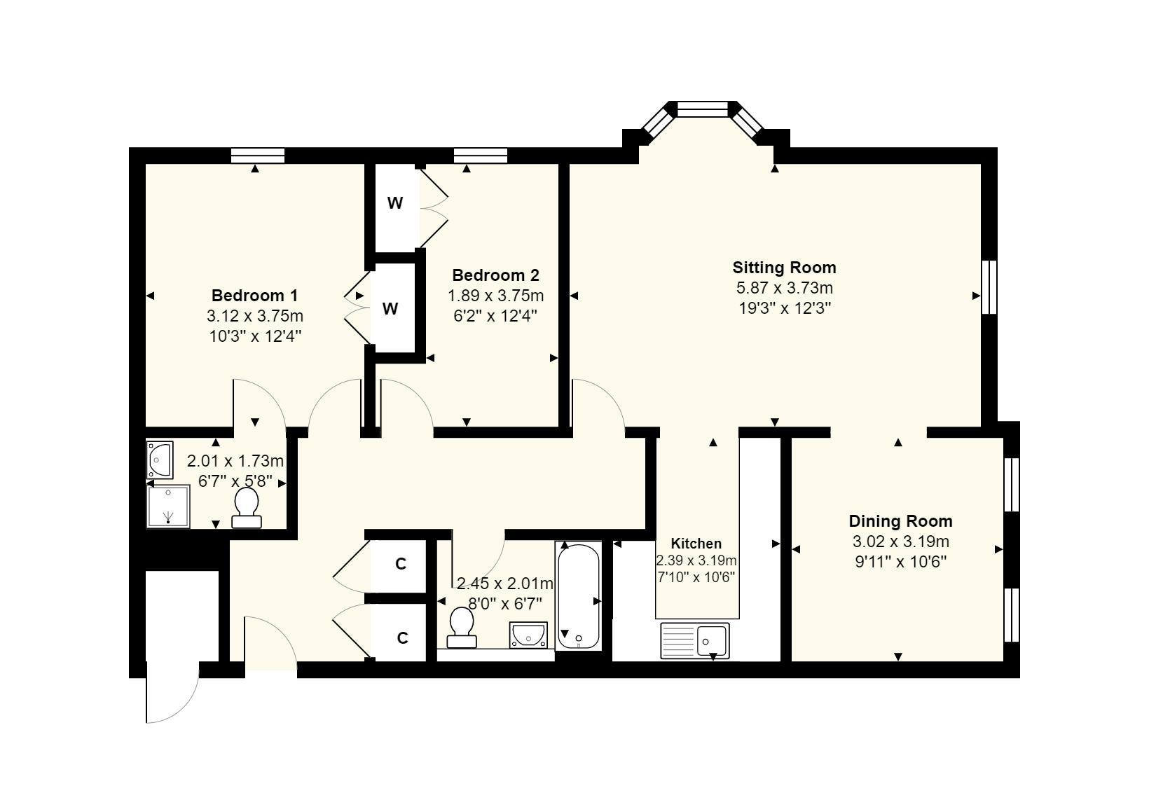 74 Sherford Lodge Floorplan